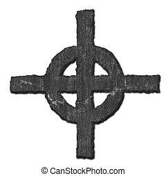 cross., πέτρα
