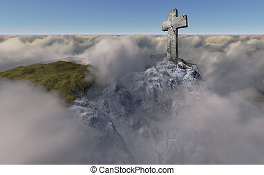Cross above the clouds