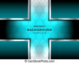 cross abstract blue background