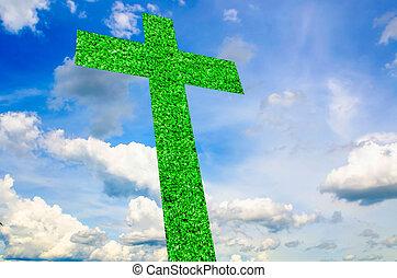 Cross Abstract on sky
