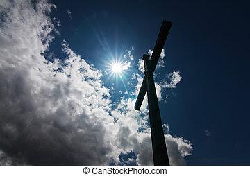 cross against sun