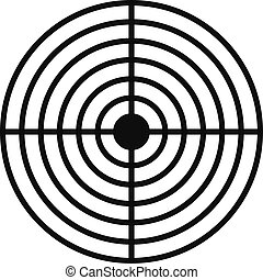 Cross aim target icon, simple style