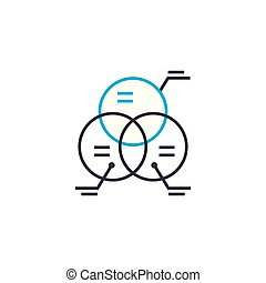 Cross analysis vector thin line stroke icon. Cross analysis outline illustration, linear sign, symbol concept.