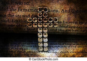 Cross and bible grunge concept