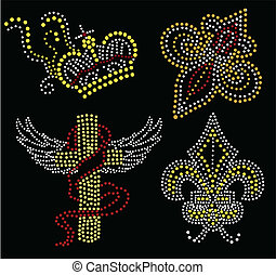 cross  and crown beaded collection