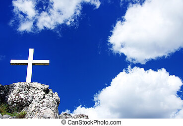 Cross and the holy blue sky