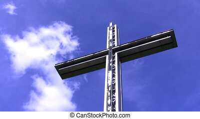 cross and the sky