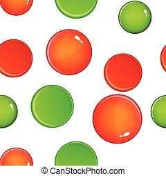 Cross and tick pattern, cartoon style