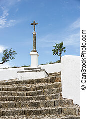 cross at the church in loule