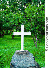 Cross at the grave