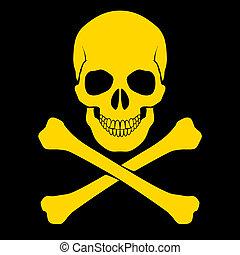 cross-bones, crâne