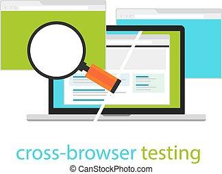 cross browser testing web software development process methodology