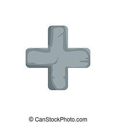 cross catholic religious isolated icon