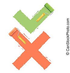 Cross Check Symbol Yes  or No. Vector