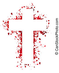 cross - illustration of cross with red border