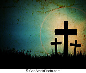 cross on the grunge background