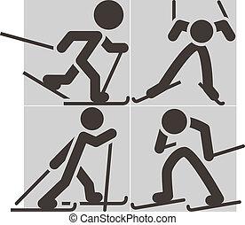 cross-country κάνω σκι , απεικόνιση