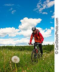 Cross-country biker