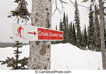Cross Country Ski Trail Sign