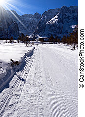 Cross Country Skiing Trail - Val Saisera Italy - Cross...