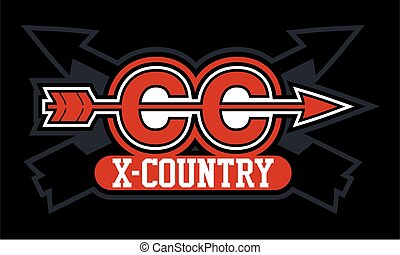cross country team design with arrows