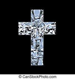 cross crystal stones