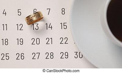 Cross date on paper calendar