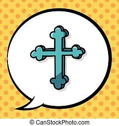 Cross doodle