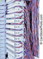 cross., e1, télécommunication, équipement