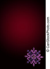 cross embroidered pink flower on purple background
