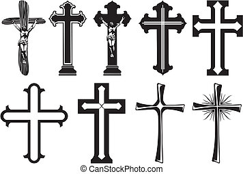 cross - decoration of funerary monuments and crosses