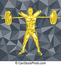 Cross Fit-29 [Converted] - Geometric Crossfit concept. ...