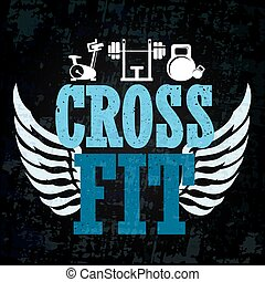Cross fit training banner - Cross fit and gym workout banner