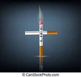cross from cigarettes