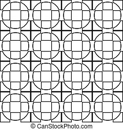 Cross from square and circle background x16