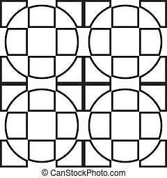Cross from square and circle background x4