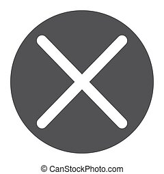 Cross glyph icon, web and mobile, delete sign vector...