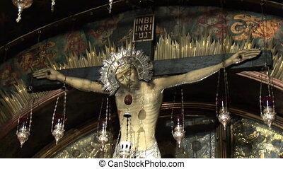cross golgotha - Calvary ( Golgotha ) in Holy Sepulchre