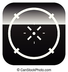 Cross-hair icon. Precision, accuracy, efficency concept icon