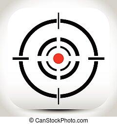 Cross hair, reticle, target mark editable vector.