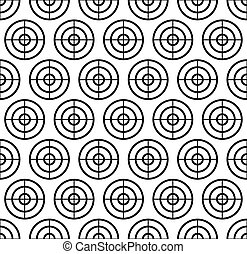 Cross hair, target mark, reticle. Graphics for hunting, accuracy, firearm, aiming, targeting concepts - Repeatable pattern.