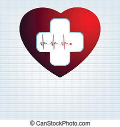 cross., hart, medisch, eps, 8