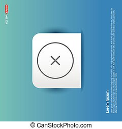 Cross Icon - Blue Sticker button