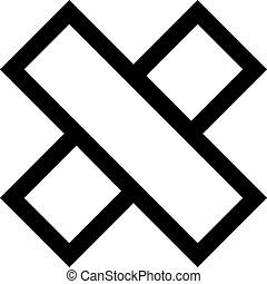 Cross icon shape