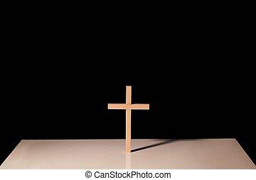 Cross illuminated in the dark