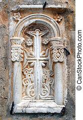 Cross in arch