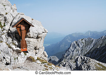 Cross in the alps