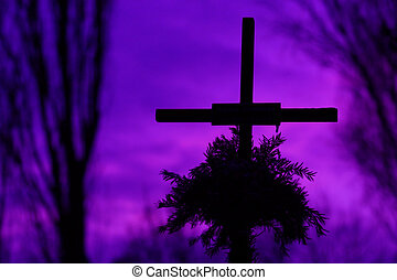 Cross in the cemetery
