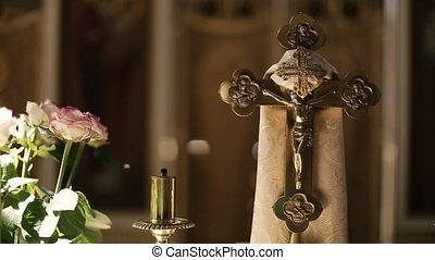 Cross in the Church Interior