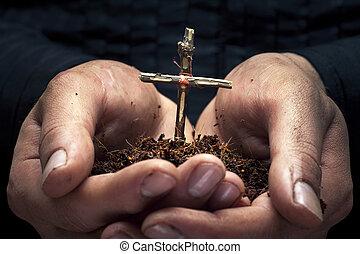 Cross in the hands